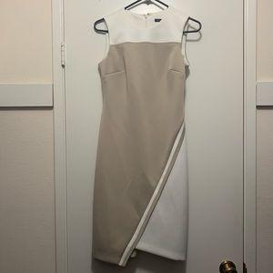 Tan and white Tommy Hilfiger sheath dress
